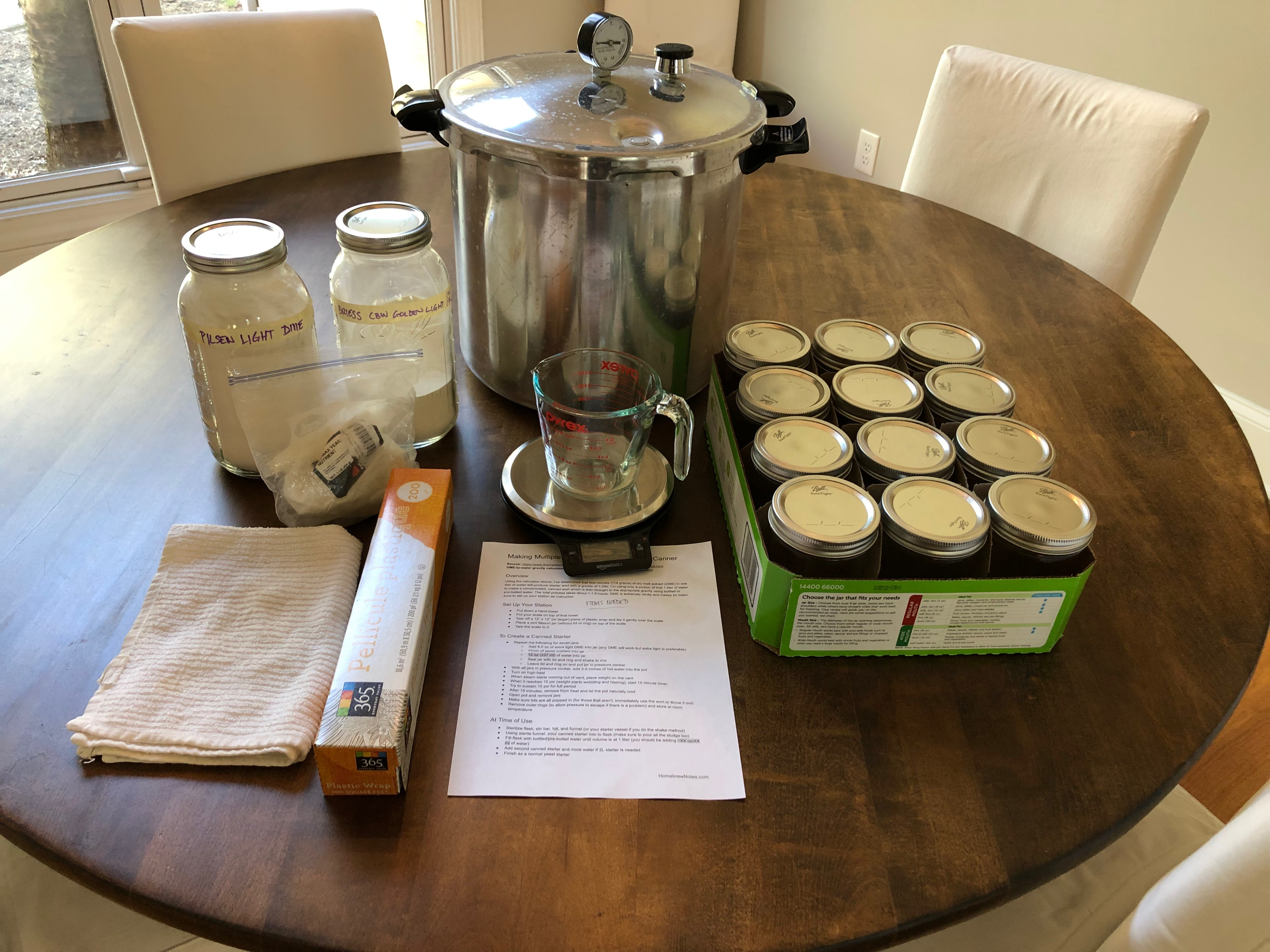 Making Multiple Yeast Starters in a Pressure Canner - Homebrew Notes